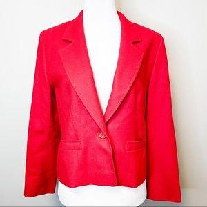 Pendleton Vintage 80s Red Single Button Blazer